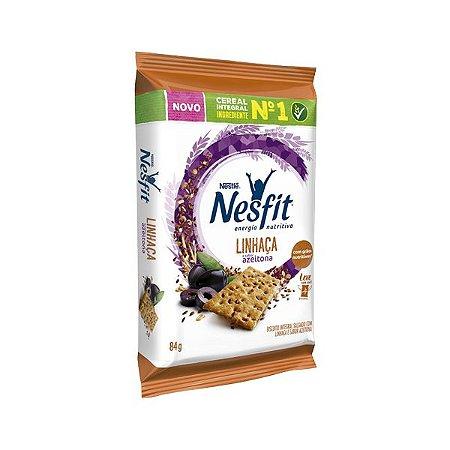 Biscoito Nesfit Linhaça E Azeitona Nestle Contendo 4 Pacotes De 21g Cada