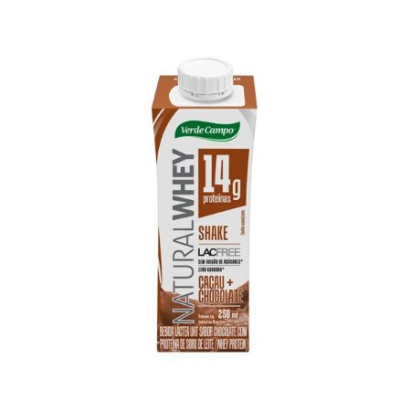 Shake Natural Whey Verde Campo Chocolate 250ml
