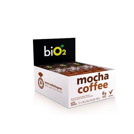 Barra De Sementes Café Coberto Com Chocolate Meio Amargo Bio2 Seeds Mocha Coffee Contendo 12 Unidades