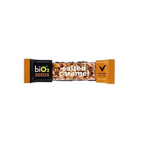 Barra De Sementes Caramelo Salgado Coberto Com Chocolate Meio Amargo Bio2 Seeds Salted Caramel Unid