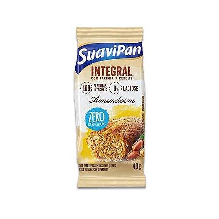 Bolinho Integral Zero Açúcar Amendoim Suavipan 40g