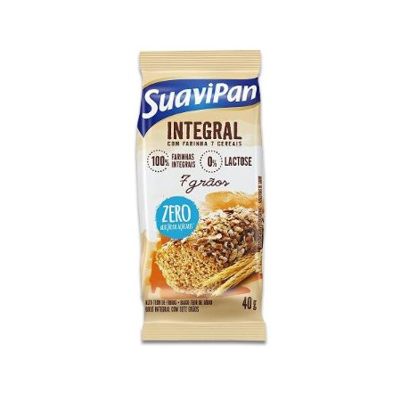 Bolinho Integral Zero Açúcar 7 Grãos Suavipan 40g