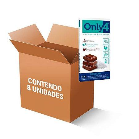 Tablete De Chocolate 70% Cacau Com Açúcar De Coco E Flor De Sal Only4 Contendo 8 Barras De 80g Cada