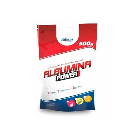 Albumina Power Zero Açúcar Absolut Nutrition Morango 500g