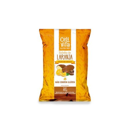 Bolinho de laranja coberto com chocolate sem gluten e sem lactose CeliVita Gluten Free 40g