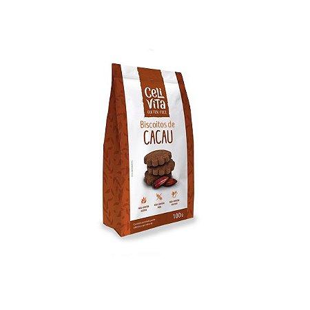 Biscoitos de Cacau Zero Glúten, Zero Lactose Celivita 100g