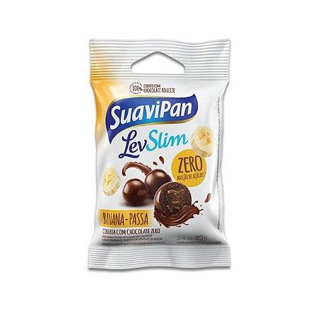 Drageados Zero Açúcar Banana-Passa coberto com Chocolate Suavipan 40g