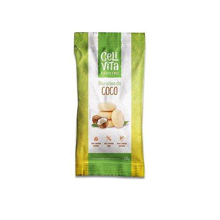 Biscoito de Coco sem gluten e sem lactose CeliVita Gluten Free 30g