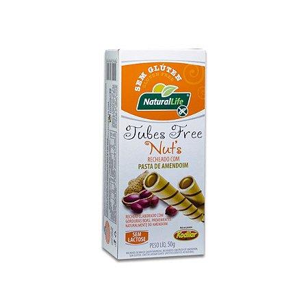 Tubes Free Nut´s recheado com Pasta de Amendoim Sem Glúten Natural Life Kodilar 50g