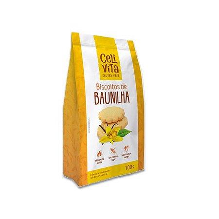 Biscoitos de baunilha sem gluten e sem lactose CeliVita Gluten Free 100g