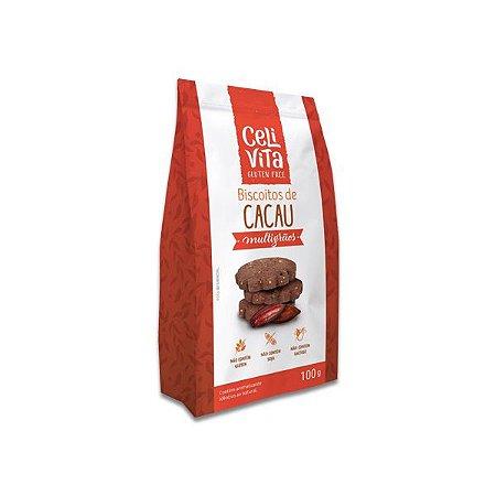 Biscoitos de cacau multigrãos sem gluten e sem lactose CeliVita Gluten Free 100g