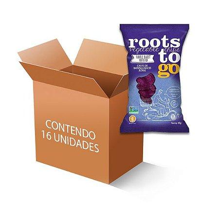 Chips De Mandioca E Batatas-doces Roots to go contendo 16 unidades de 45g
