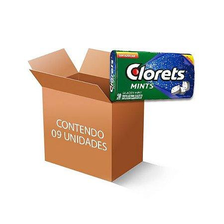 Bala Clorets Latinha Mints Zero Açúcar contendo 9 latas