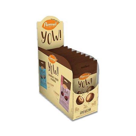Amendoim coberto com Chocolate ao Leite Flormel Yow!  com 8 pacotes