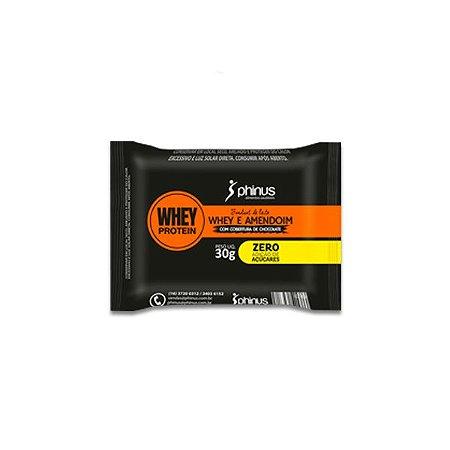 Fondant de Leite com Whey Protein de Chocolate e Amendoim Phinus 30g