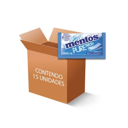 Mentos Pure Fresh Mint 3 Camadas contendo 15 Sticks