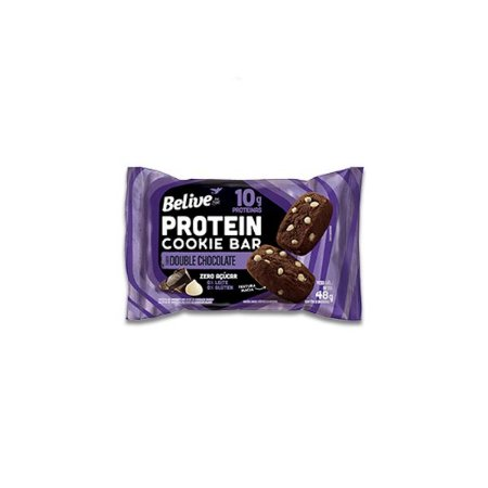 Cookie Bar Protein Double Chocolate Zero Leite, Zero Açúcar Belive 48g