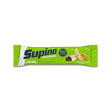 Barra De Frutas Supino Tradicional Banana Com Chocolate BRANCO 24g por UNIDADE