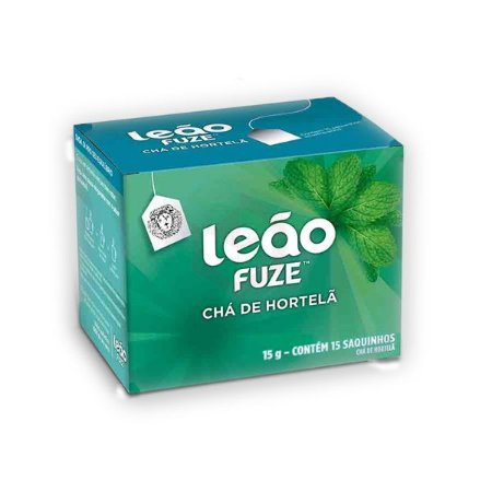 Chá de Hortelã Envelopado Leão contendo 15 saquinhos