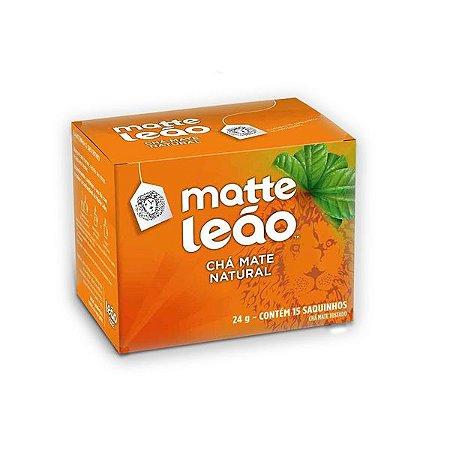 Chá Mate Natural Envelopado Leão contendo 15 saquinhos
