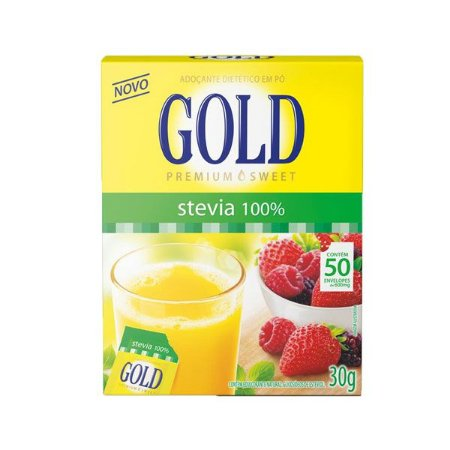 Adoçante Gold Stevia C/50 Sachês
