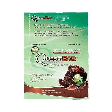 Barra Proteínas Quest Mint Chocolate Chunk 60g