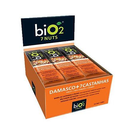 Barra De Castanha E Frutas Damasco + 7 Castanhas Bio2 Contendo 12 Unidades De 25g Cada