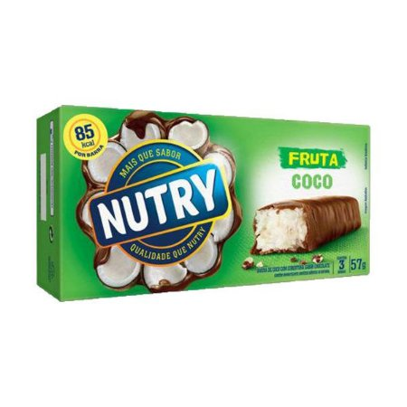 Barra De Frutas Nutry Coco Com 3 Unidades De 19g Cada