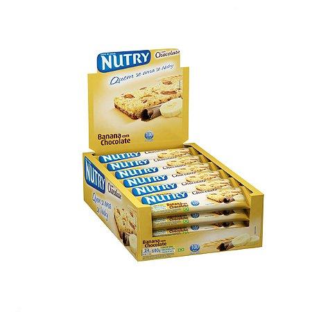 Barra De Cereais Nutry Banana C/ Chocolate C/24