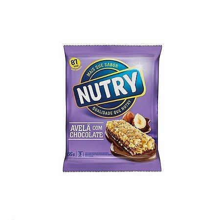Barra De Cereais Nutry Avelã C/chocolate C/3