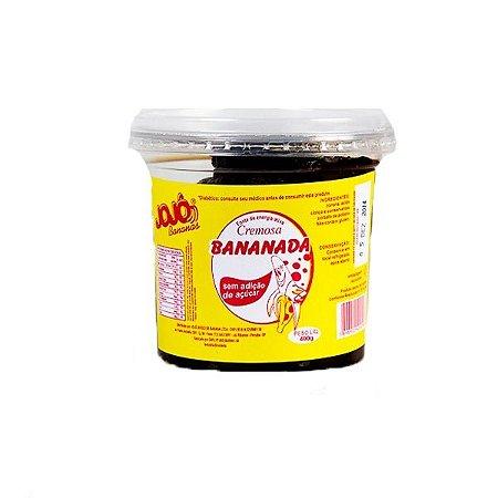 Bananada Cremosa Sem Adição De Açúcar Jojô 400g
