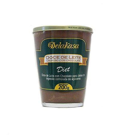 Doce De Leite Chocolate Delakasa 200g Diet