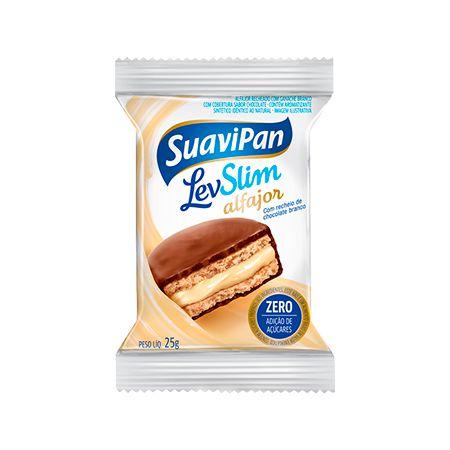 Alfajor Levslim Suavipan Com Recheio De Chocolate Branco 25g