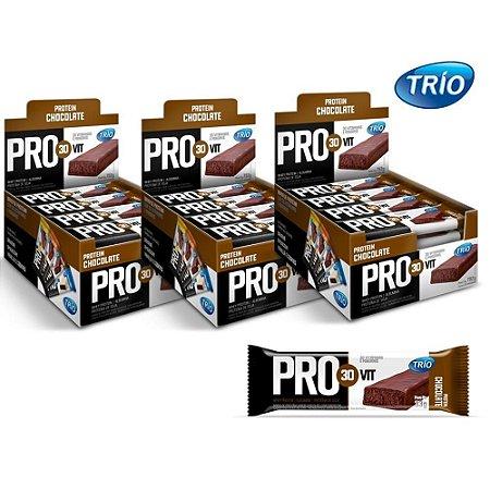 Barra De Proteínas Trio Chocolate C/24