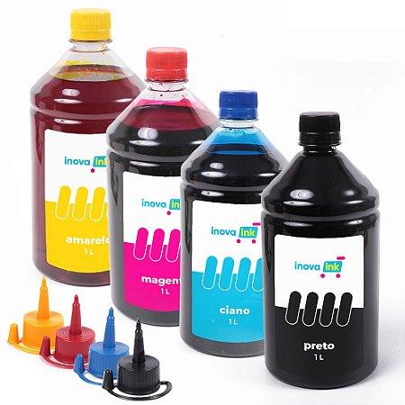 Kit 4 Tintas Para Epson EcoTank L6171 1 Litro Inova Ink