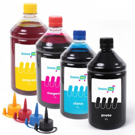 Kit 4 Tintas para Epson Universal 1000ml Inova Ink