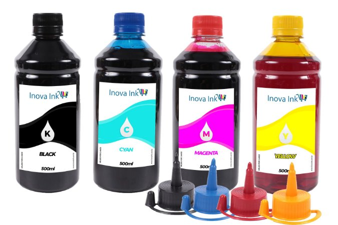 Kit 4 Tintas para Epson Ecotank  L555 500ml Inova Ink