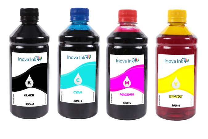 Kit 4 Tintas para Brother Universal 500ml CMYK Inova Ink