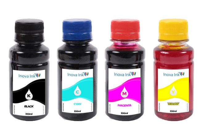 Kit 4 Tintas para Brother Universal 100ml CMYK Inova Ink