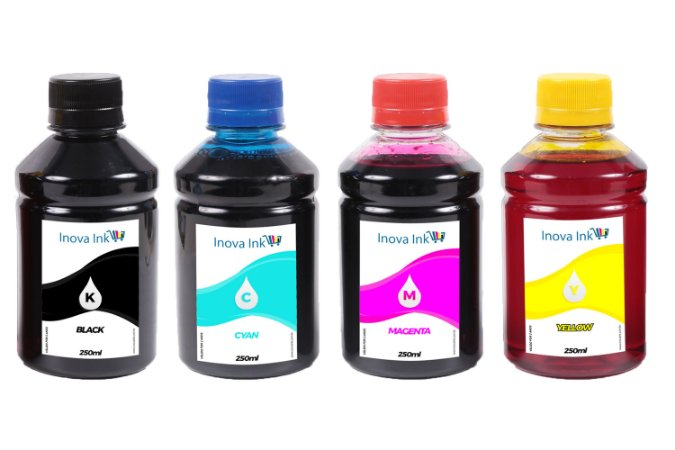 Kit 4 Tintas para HP 6978|6970|904|904XL 250ml Inova Ink