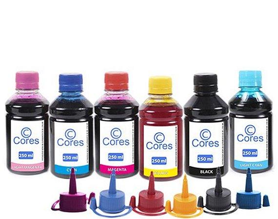 Kit 6 Tintas para Impressora L850 250ml Cores