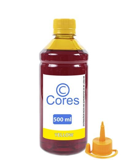 Tinta para HP GT 116  GT51 GT52 500ml Yellow Cores