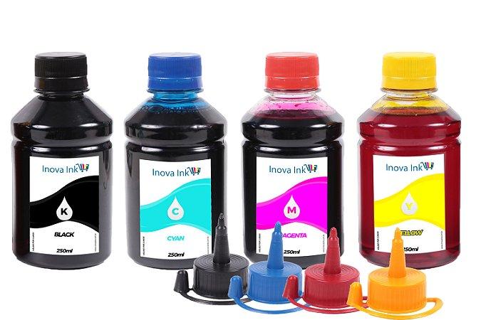 Kit 4 Tintas para Hp, Epson, Canon e Lexmark 250ml Inova Ink