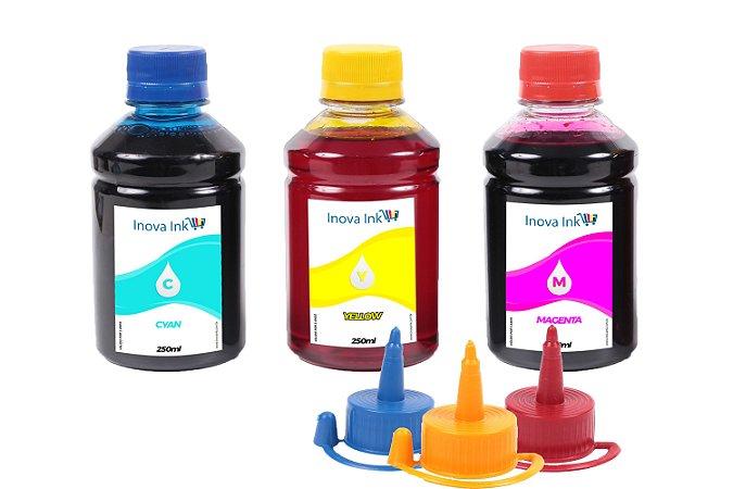 Kit 3 Tintas para Epson EcoTank L396 250ml Inova Ink