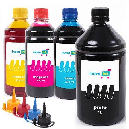 Kit 4 Tintas Para HP Ink Tank 412 Black 1 Litro 500ml coloridas Inova Ink