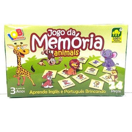 Brinquedo Educativo Jogo Pedagógico IOB Madeira - Jogo da Memoria ANIMAIS