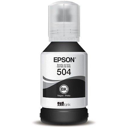 Refil Preto De Tinta Epson T504 Original L4150 L4160 L6171