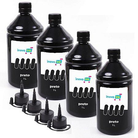 Kit 4 Litros de tinta Black para Epson EcoTank L3110 1 Litro