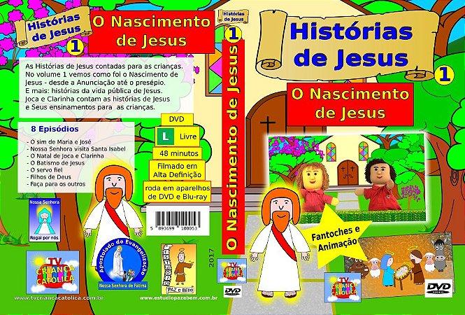 DVD O NASCIMENTO DE JESUS - Histórias de Jesus 1
