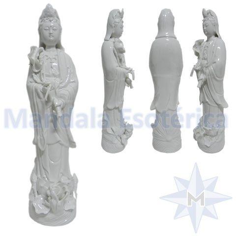 Kuan Yin em Porcelana cura de todos males Grande